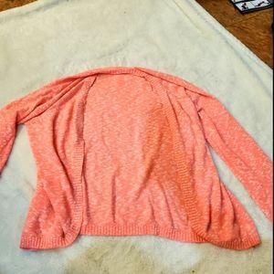 Coral cardigan